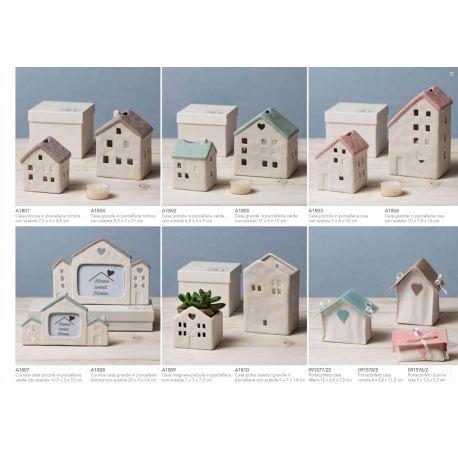Sacchetto a forma di casetta grande in cotone linea Home Sweet Home (91578)