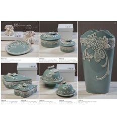 Piattino ovale in porcellana con decorazioni con astuccio linea Vintage (P8601)