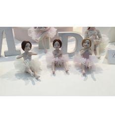 Bomboniera Ballerina con tutù seduta sul pouf (TB900)
